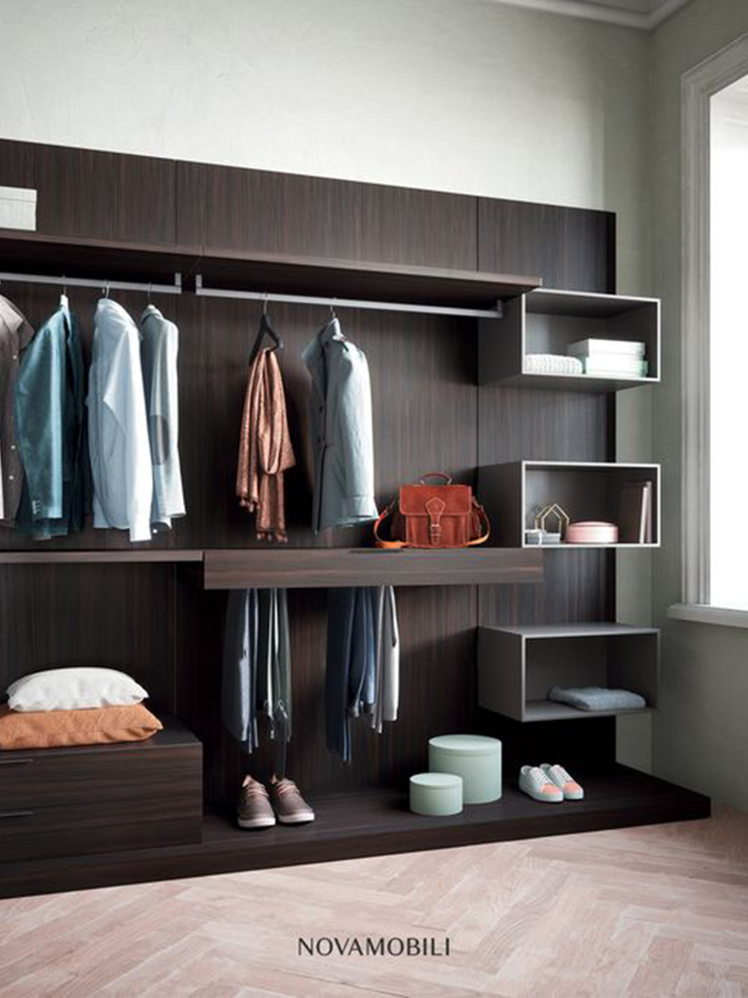 Bedroom wardrobe storage by Hubble