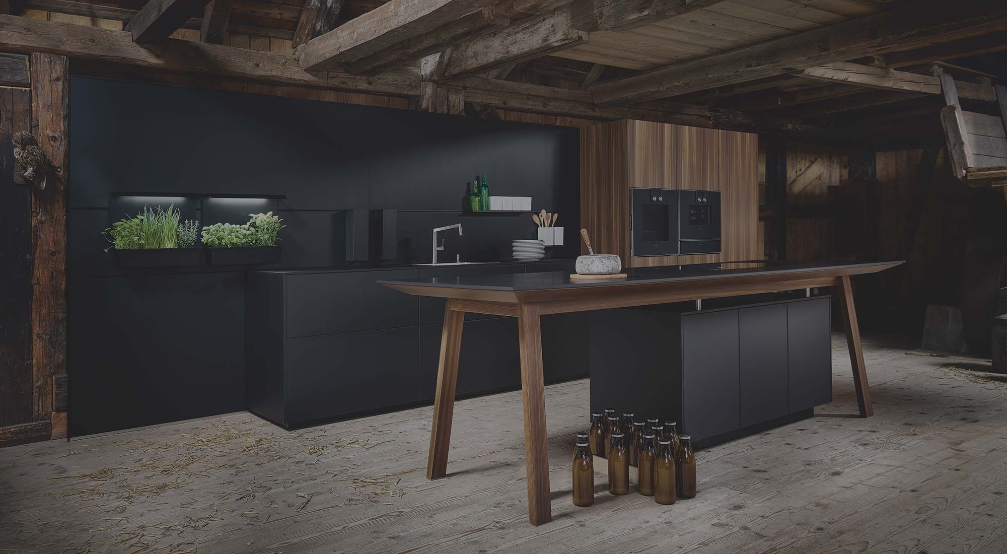 Black designer kitchen for modern lifestyle by Hubble