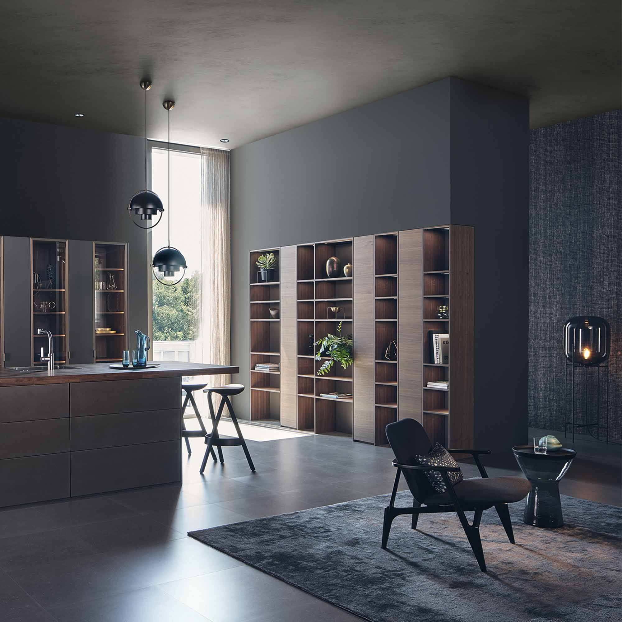 Designer kitchen and living area by Hubble