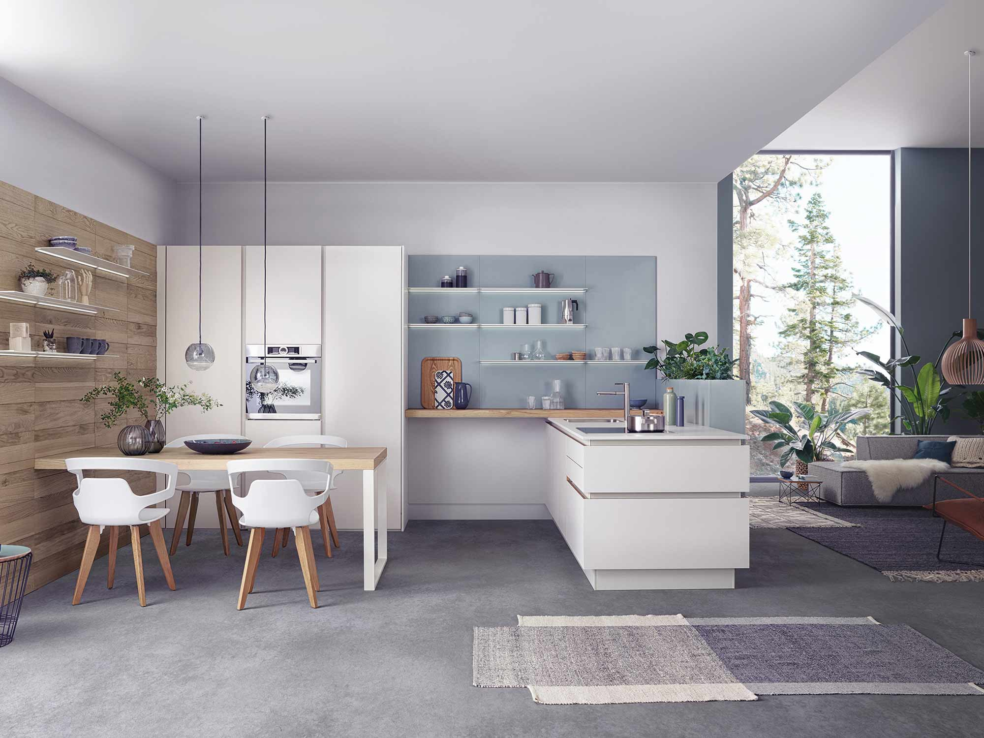German designer kitchen and living area by Hubble