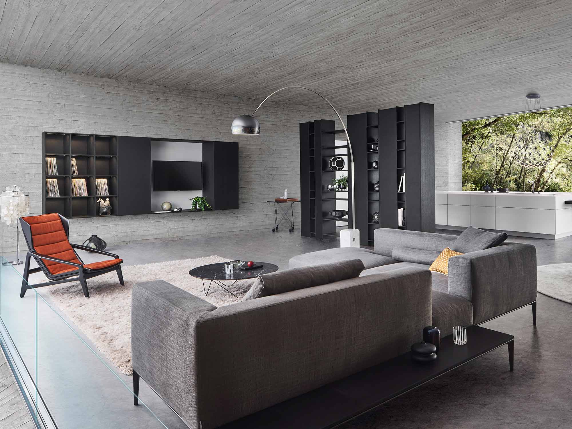Modern living area interior design by Hubble