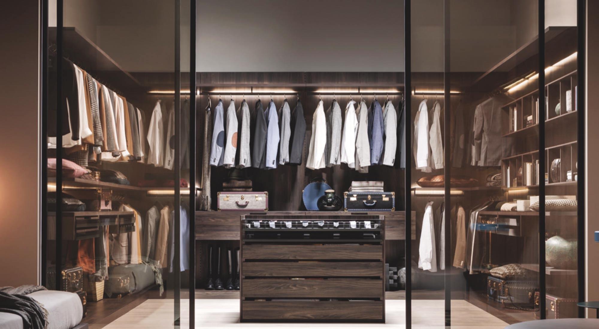 Walk-in wardrobe design by Hubble