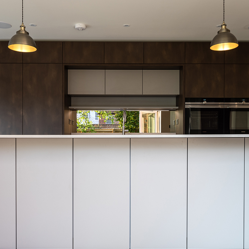 Designer kitchen in West Sussex by Hubble