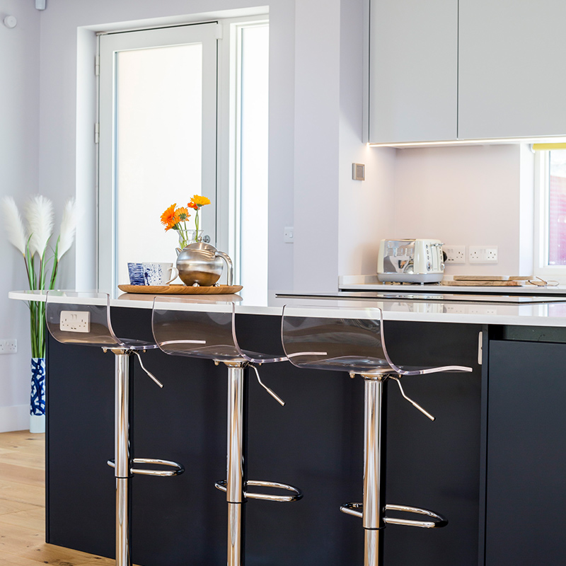 Contemporary kitchen diner fit by Hubble