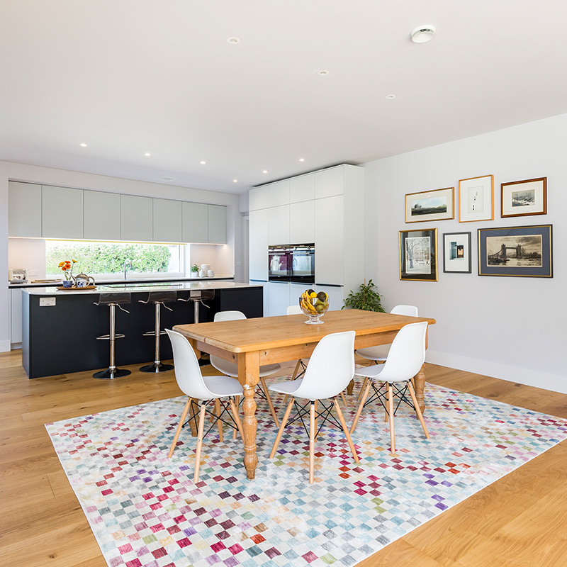 Contemporary kitchen dining area fitting by Hubble