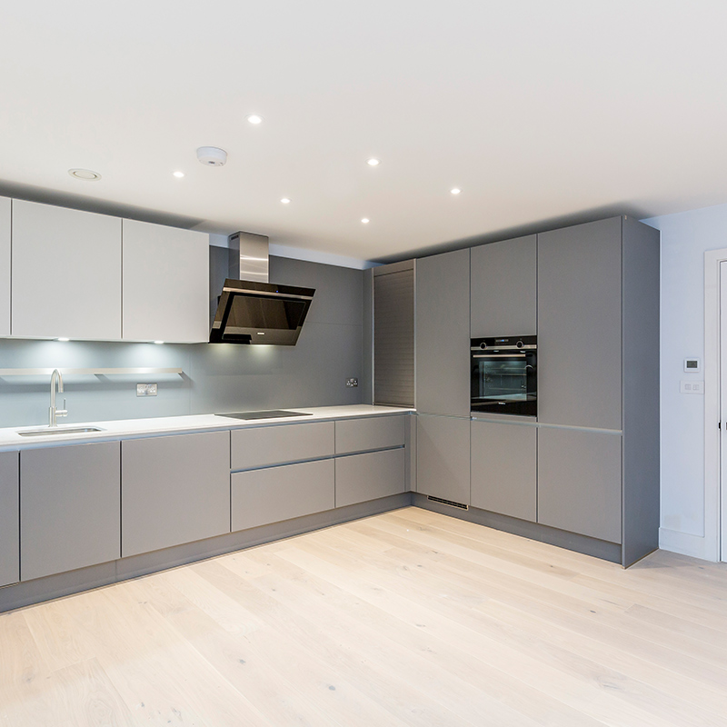 Contemporary grey designer kitchen fitting by Hubble