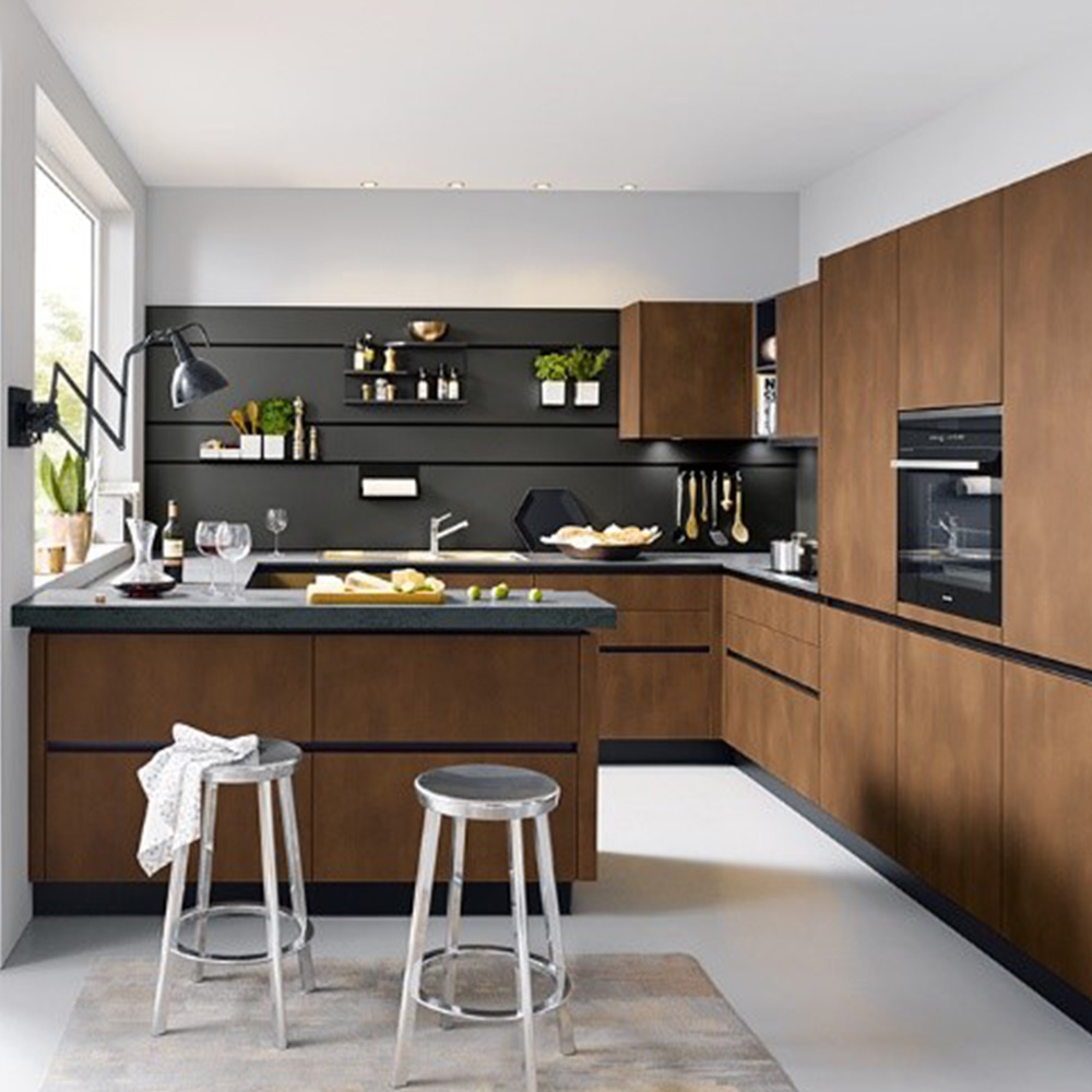 Small designer kitchen with breakfast bar by Hubble