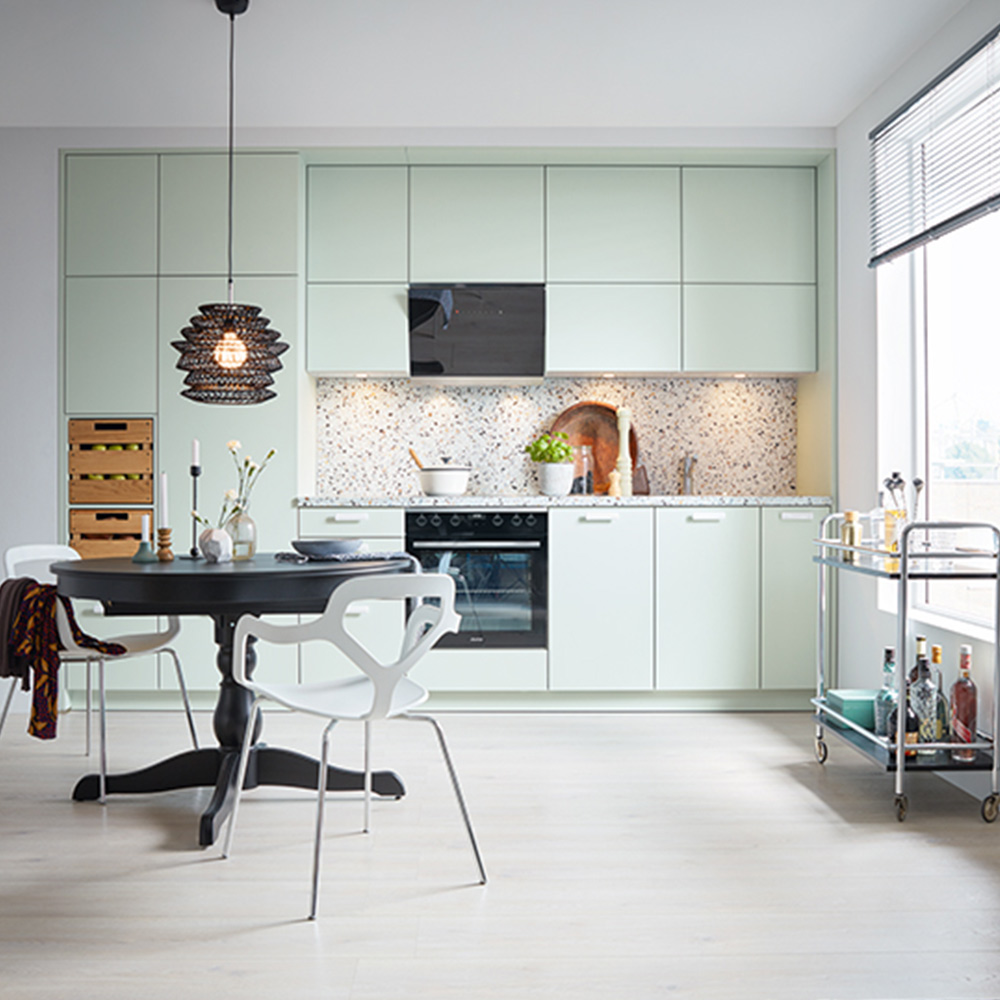 Compact kitchen design by Hubble
