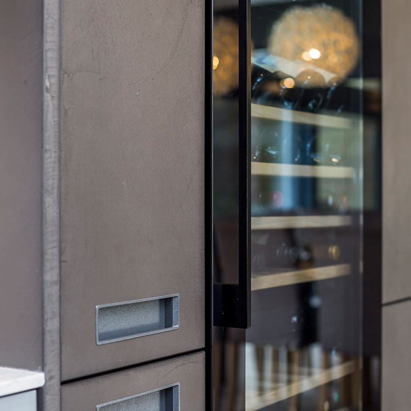 Leicht designer kitchen installation in Guildford residential property by Hubble