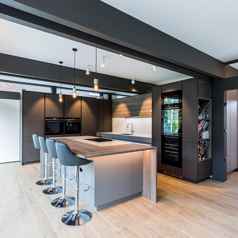 Designer kitchen in Surrey house by Hubble