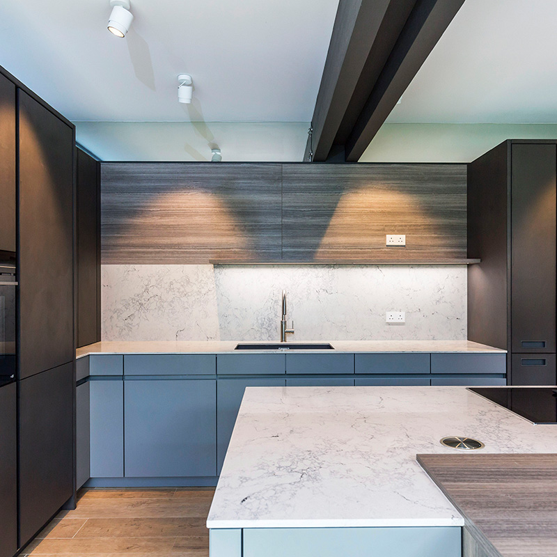 Leicht designer kitchen fitting in Guildford residential property by Hubble