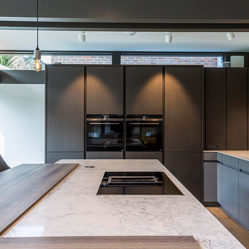 Leicht German designer kitchen in Guildford house by Hubble