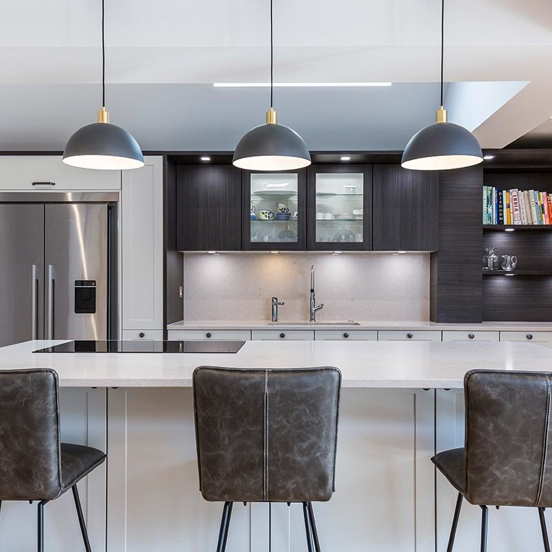 Leicht open plan designer kitchen by Hubble