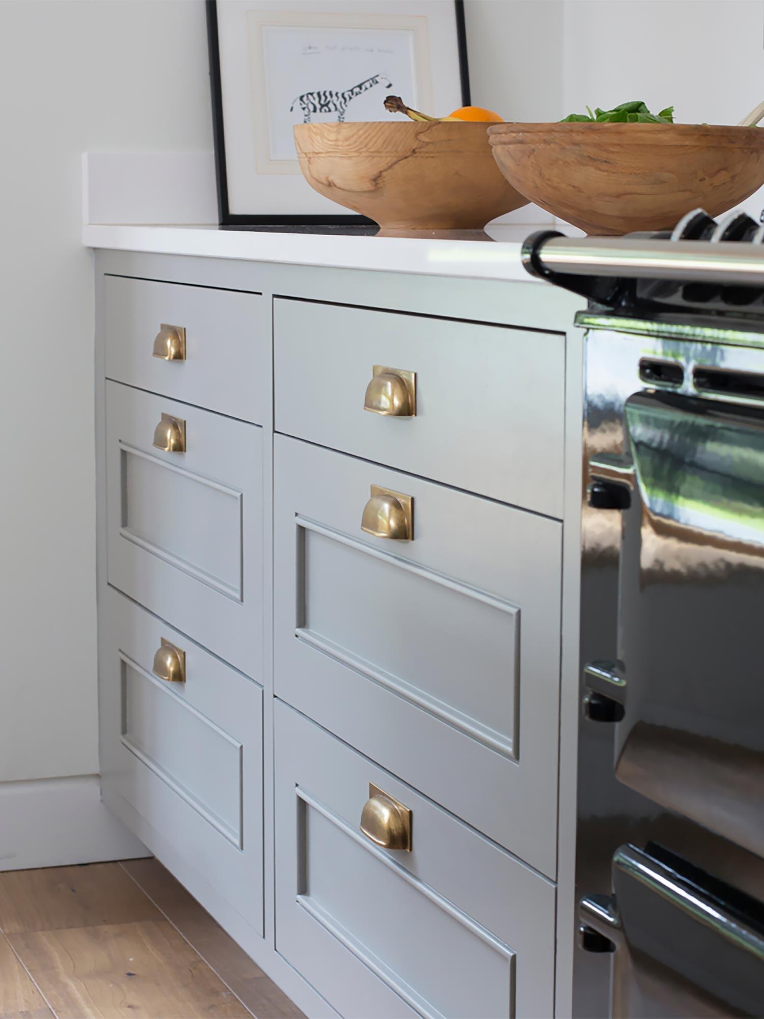 Armac handle design kitchen drawers - Hubble Kitchens