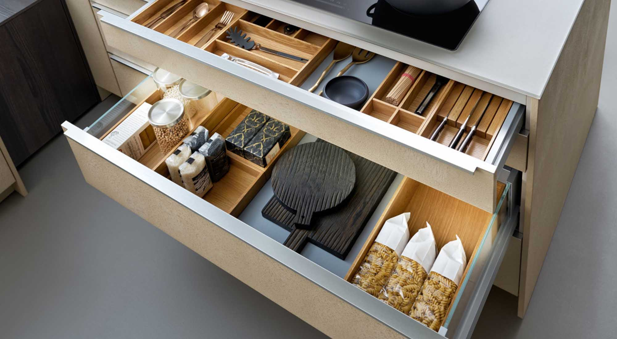 Designer kitchen drawers by Hubble