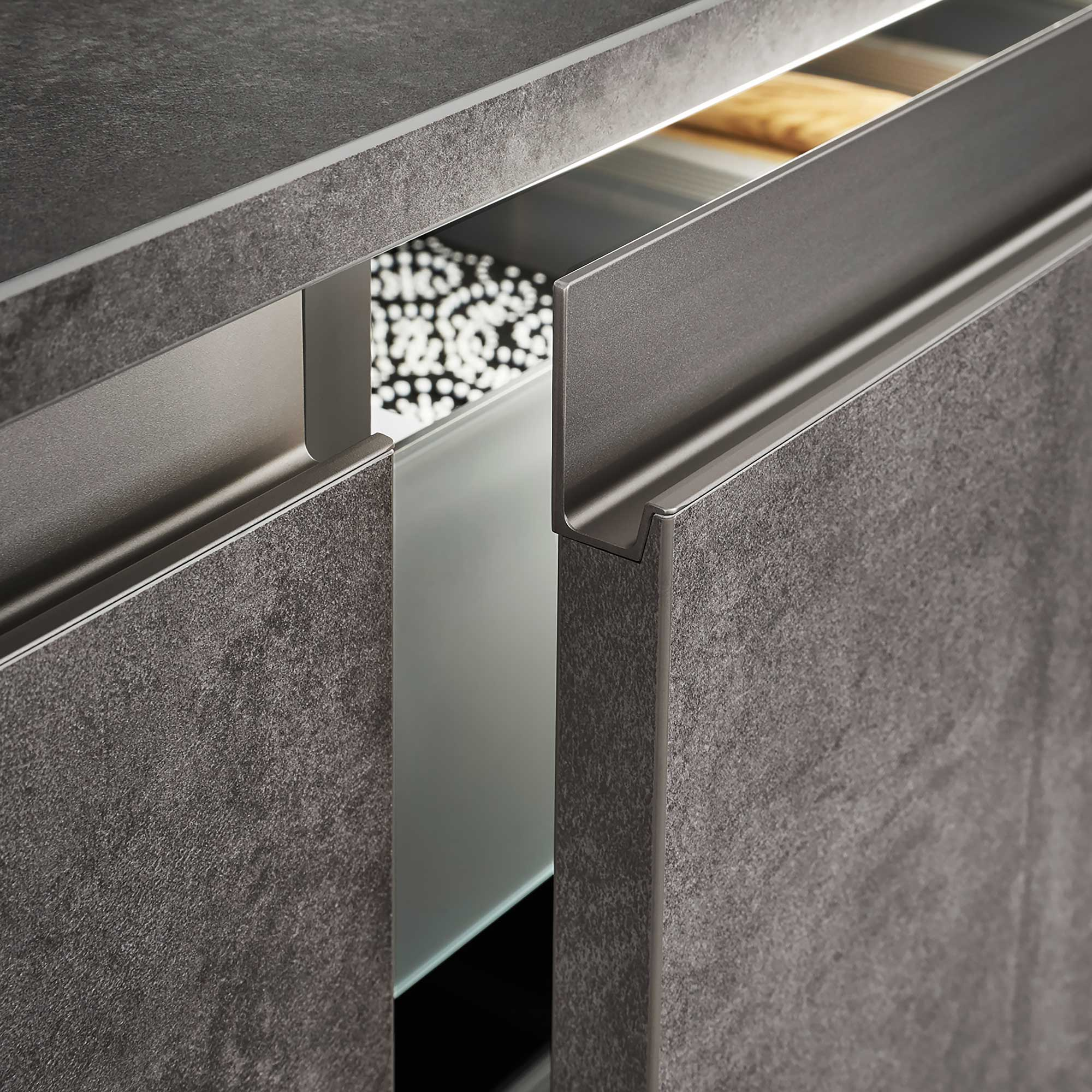 Profile griprail designer kitchen cupboard handle by Hubble