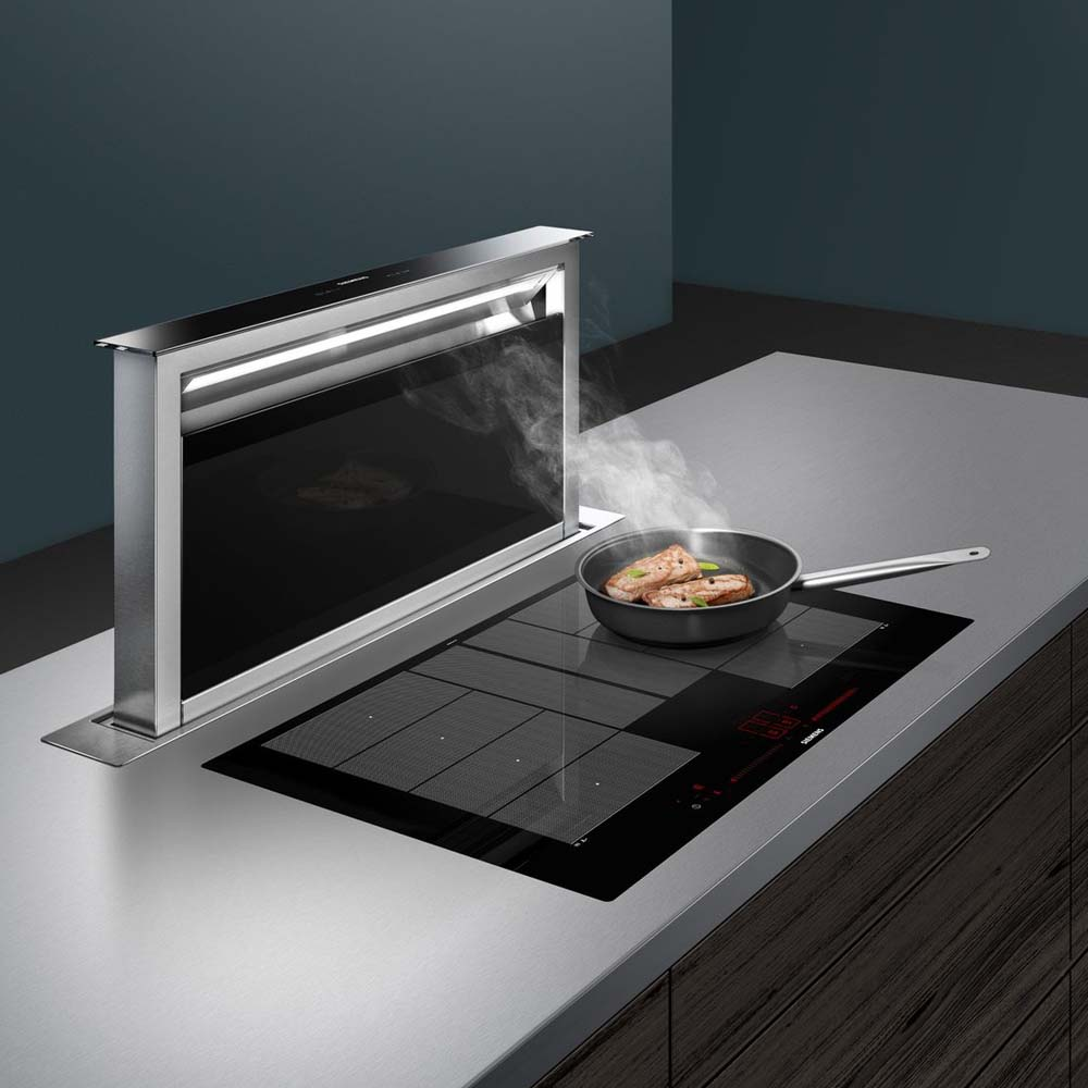 Siemens Global extractor fan and hob in Hubble kitchen