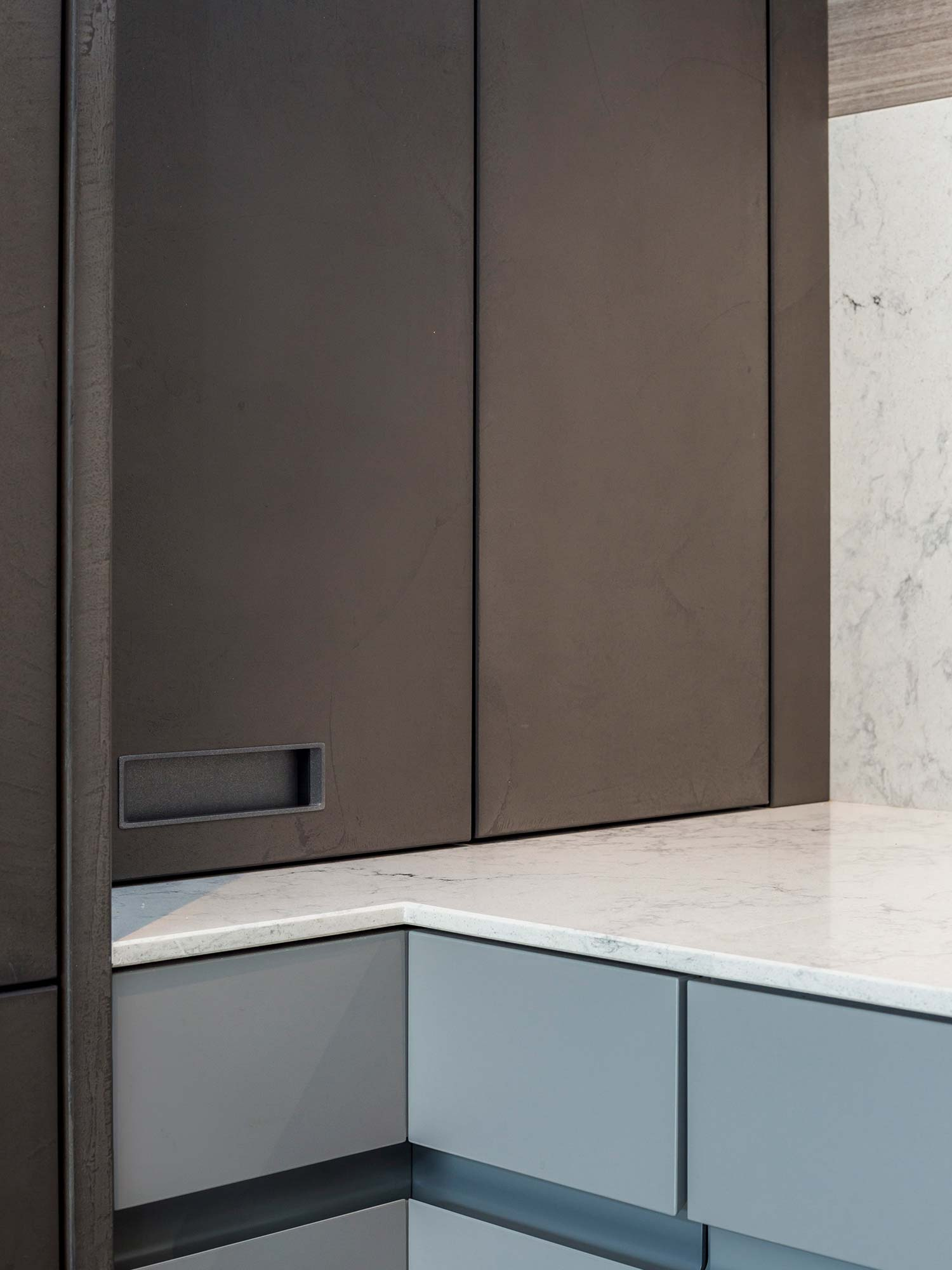 Inset handles in Hubble designer kitchen