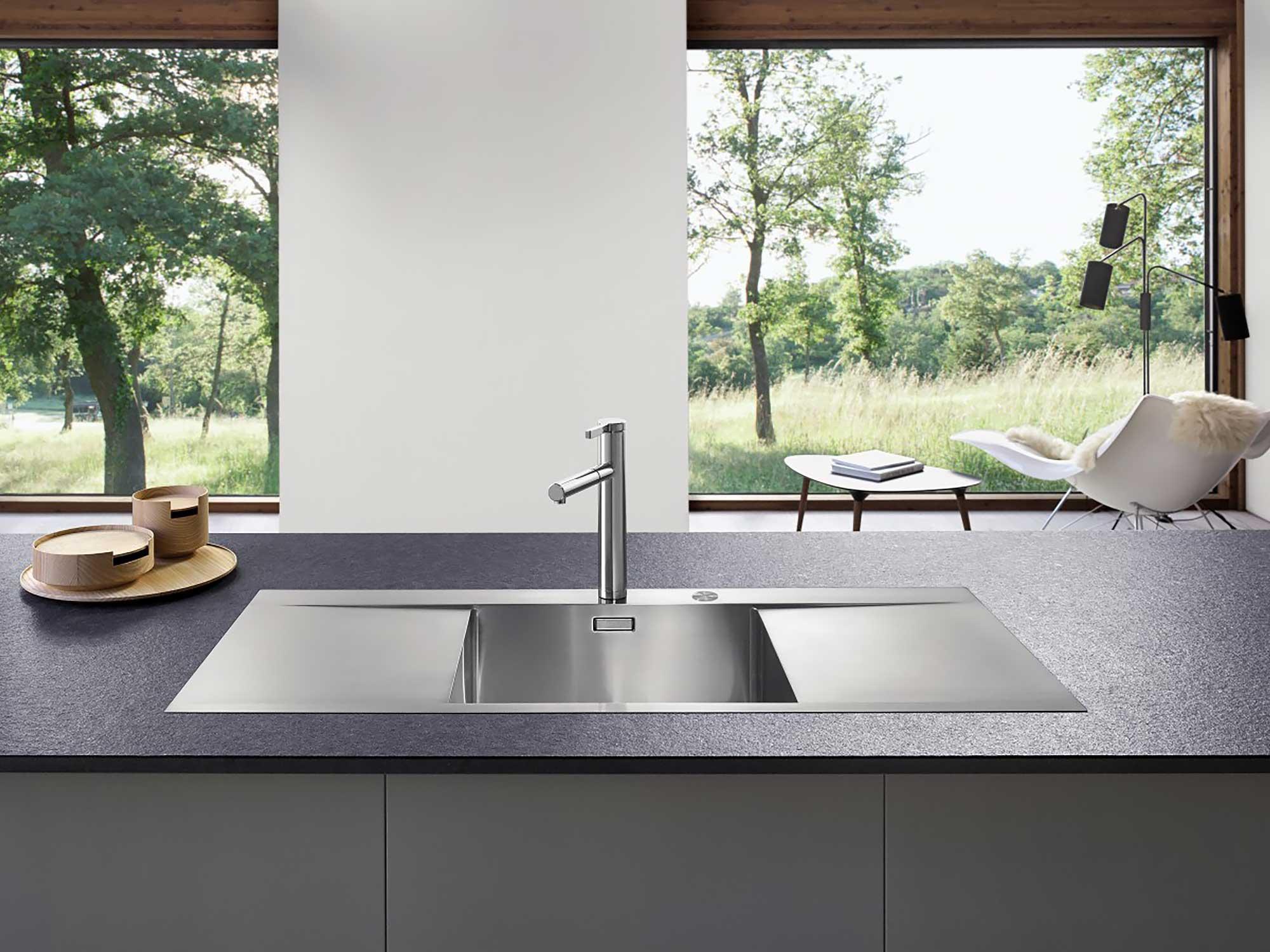Blanco kitchen sink in designer kitchen