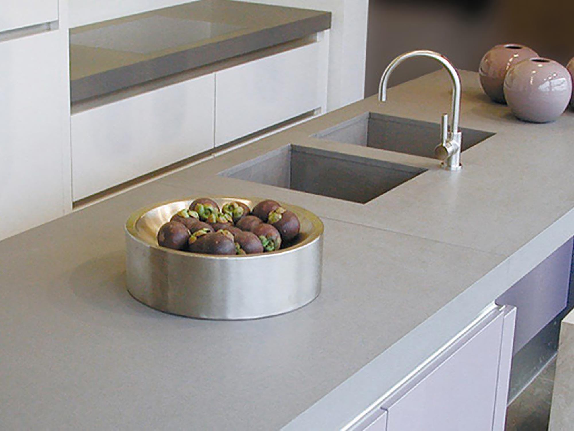 Caesarstone kitchen worktop concrete