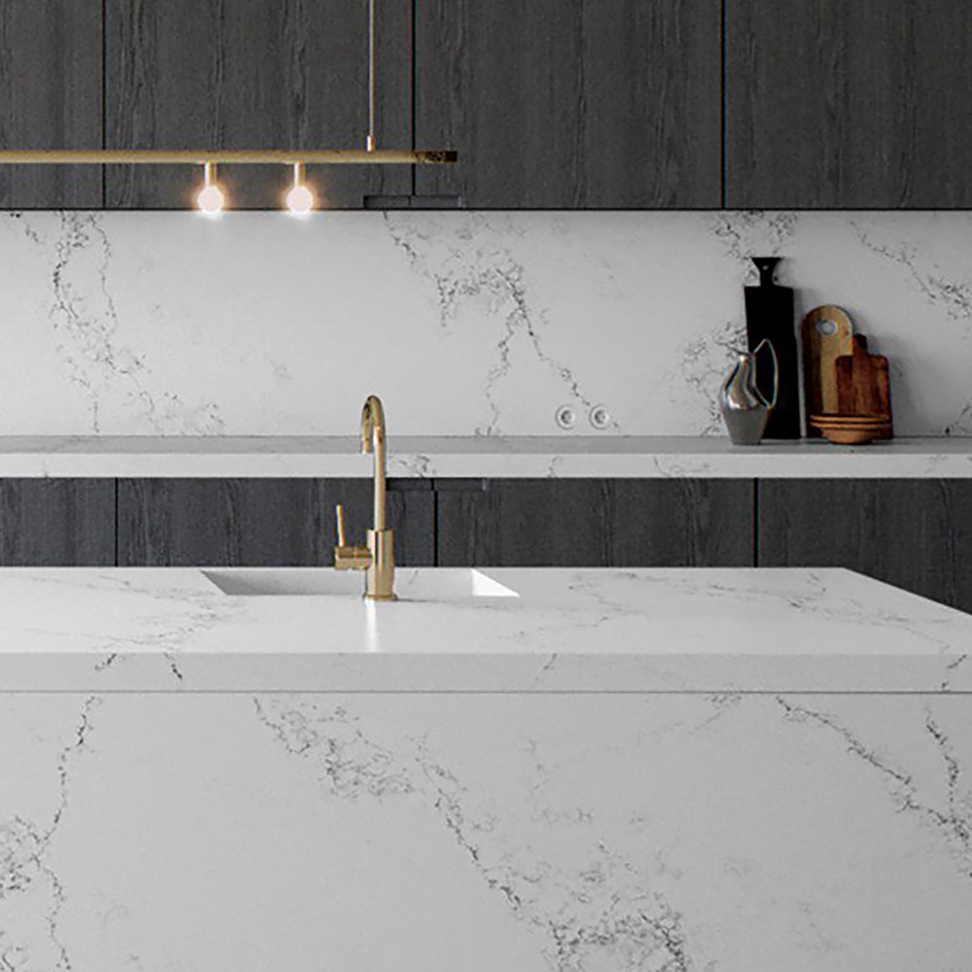 Caesarstone kitchen worktop Empira white render