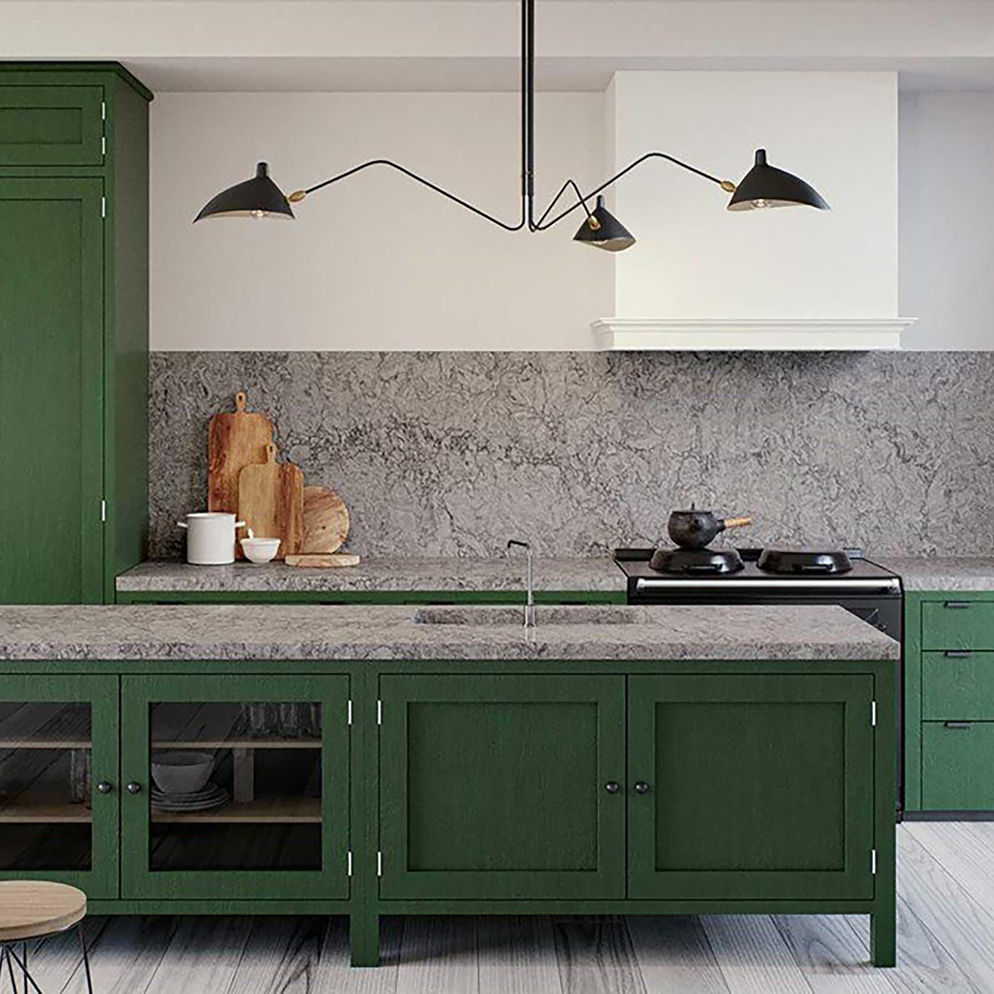 Caesarstone kitchen worktop Turbine grey render