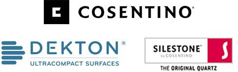Cosentino, Dekton and Silestone logos