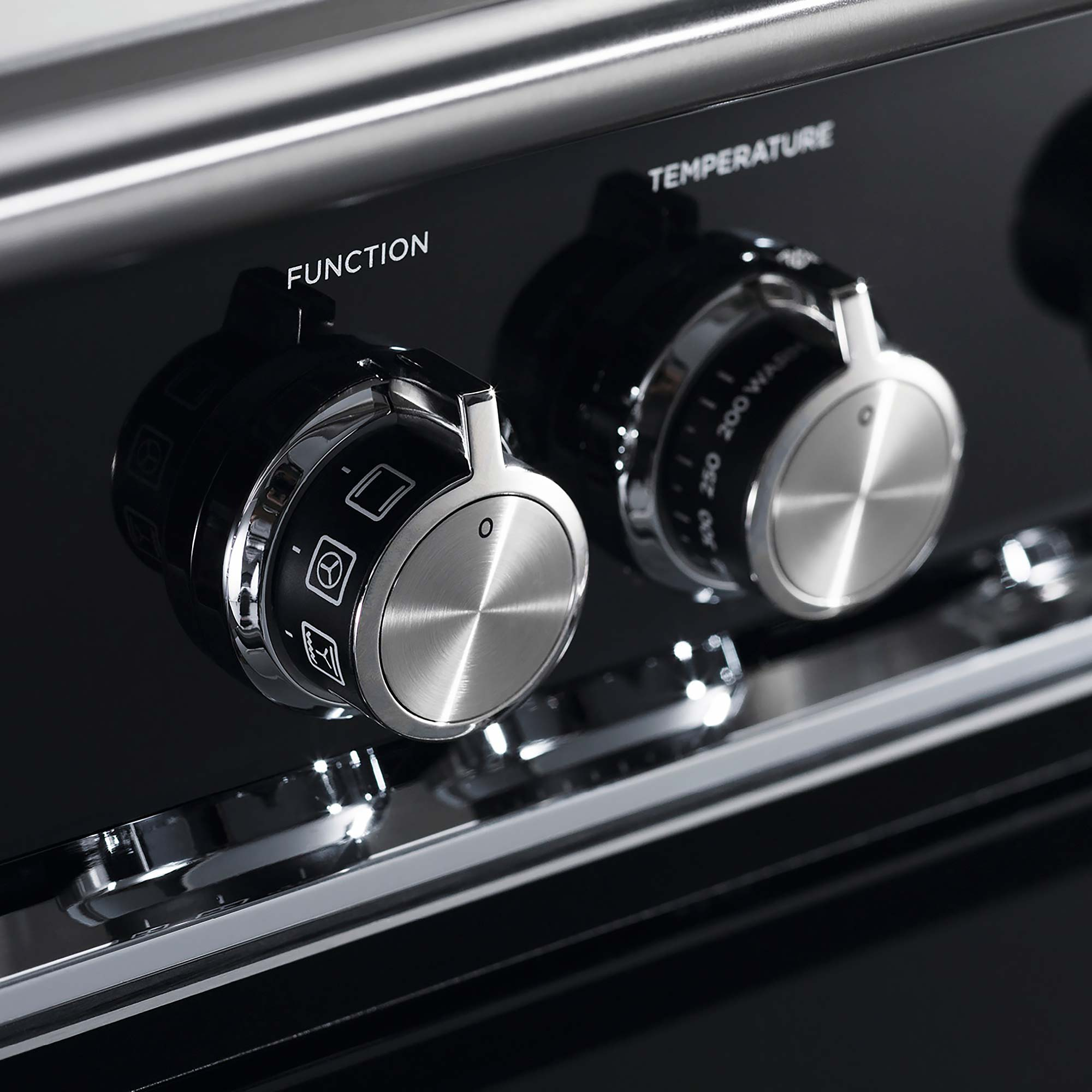 close up on fisher dials - Hubble Kitchens