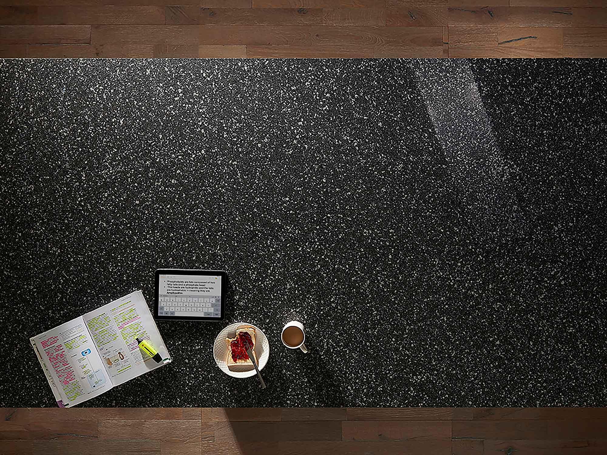 Konigstone kitchen worktop Tungsten