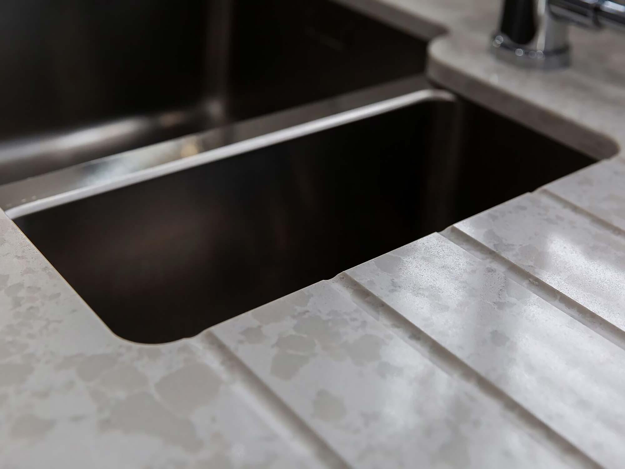 Konigstone kitchen worktop sink