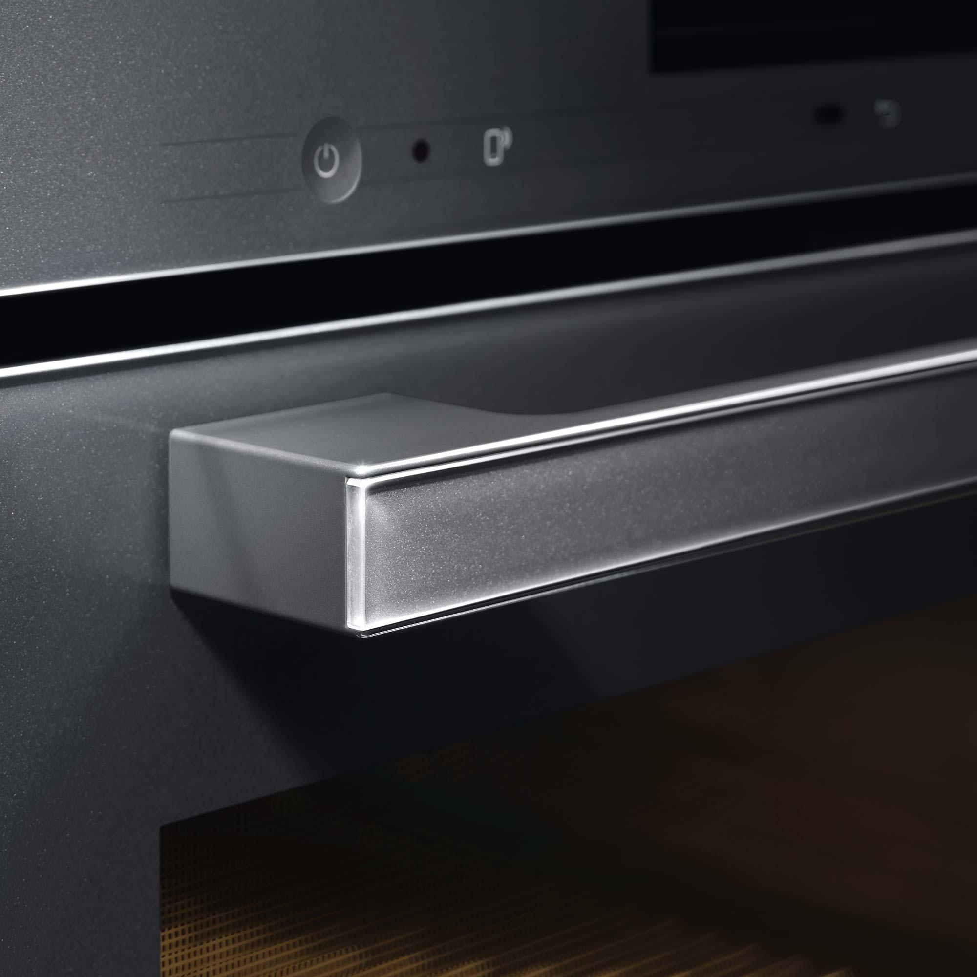 Miele kitchen appliance handle detail