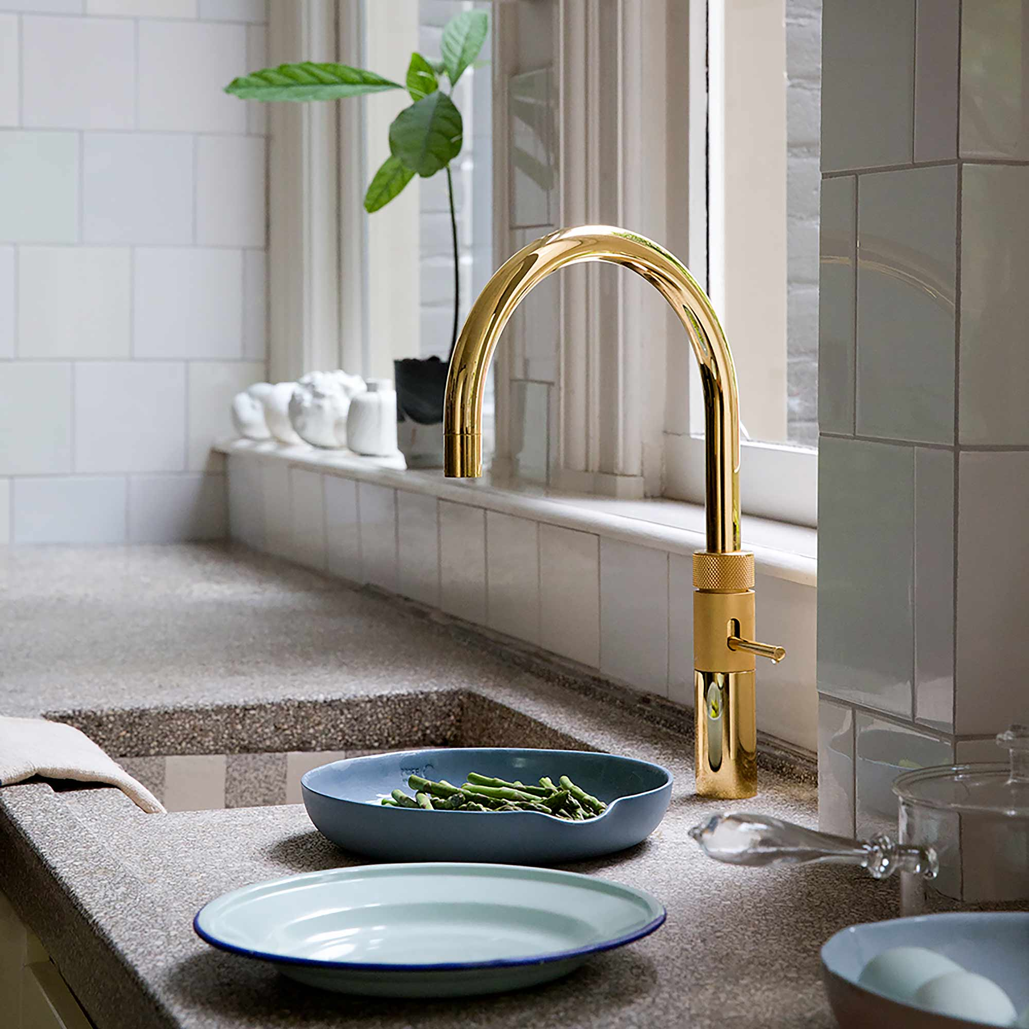 Quooker tap Fusion Round Gold