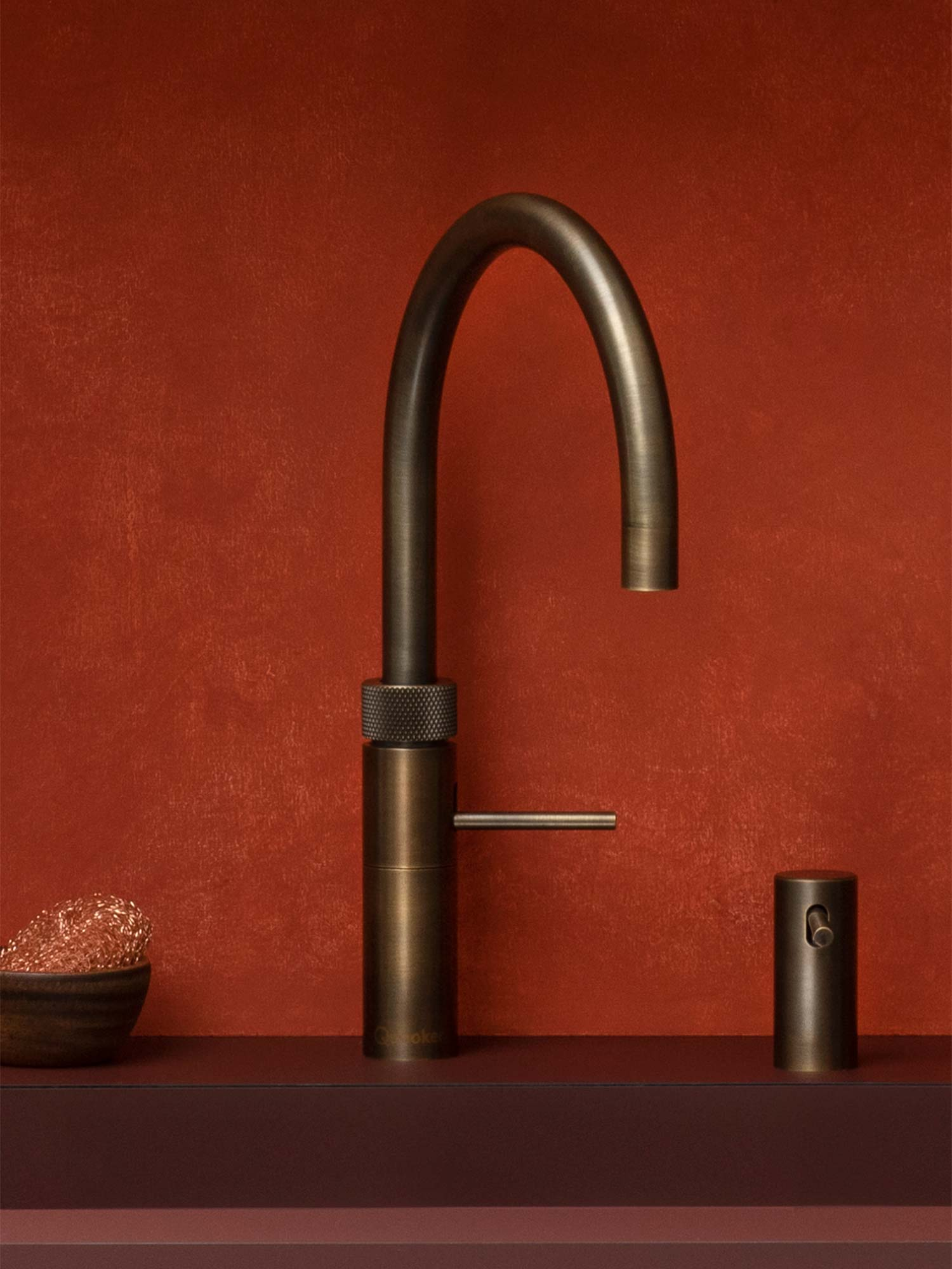 Quooker tap Fusion Round Patina Brass