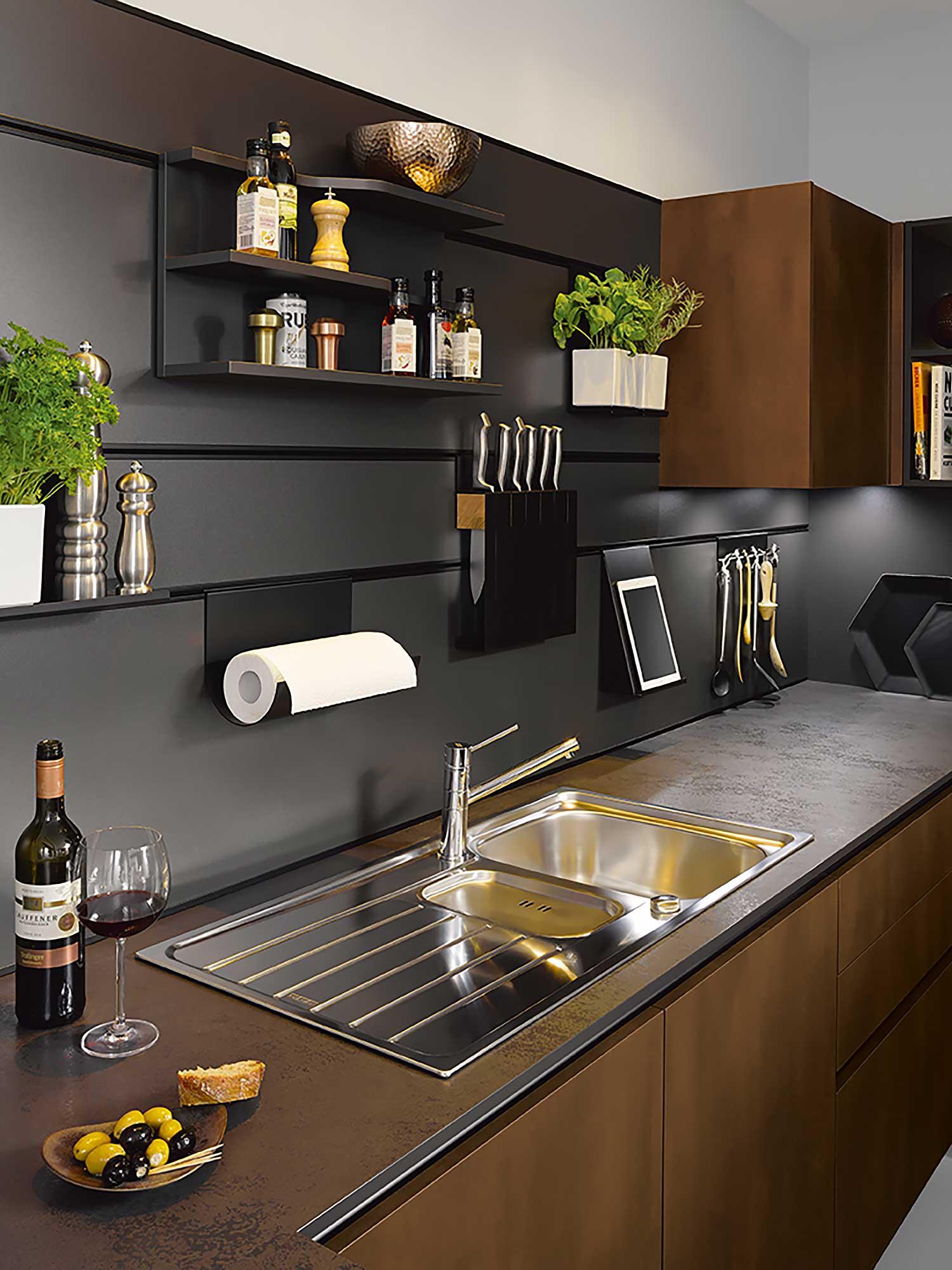 Schuller Panel System kitchen splashback