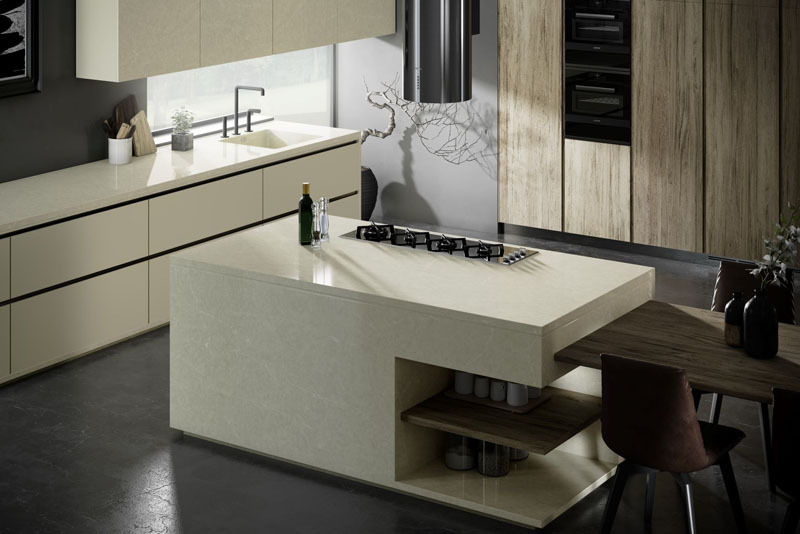 Silestone Silken Pearl Kitchen | Hubble