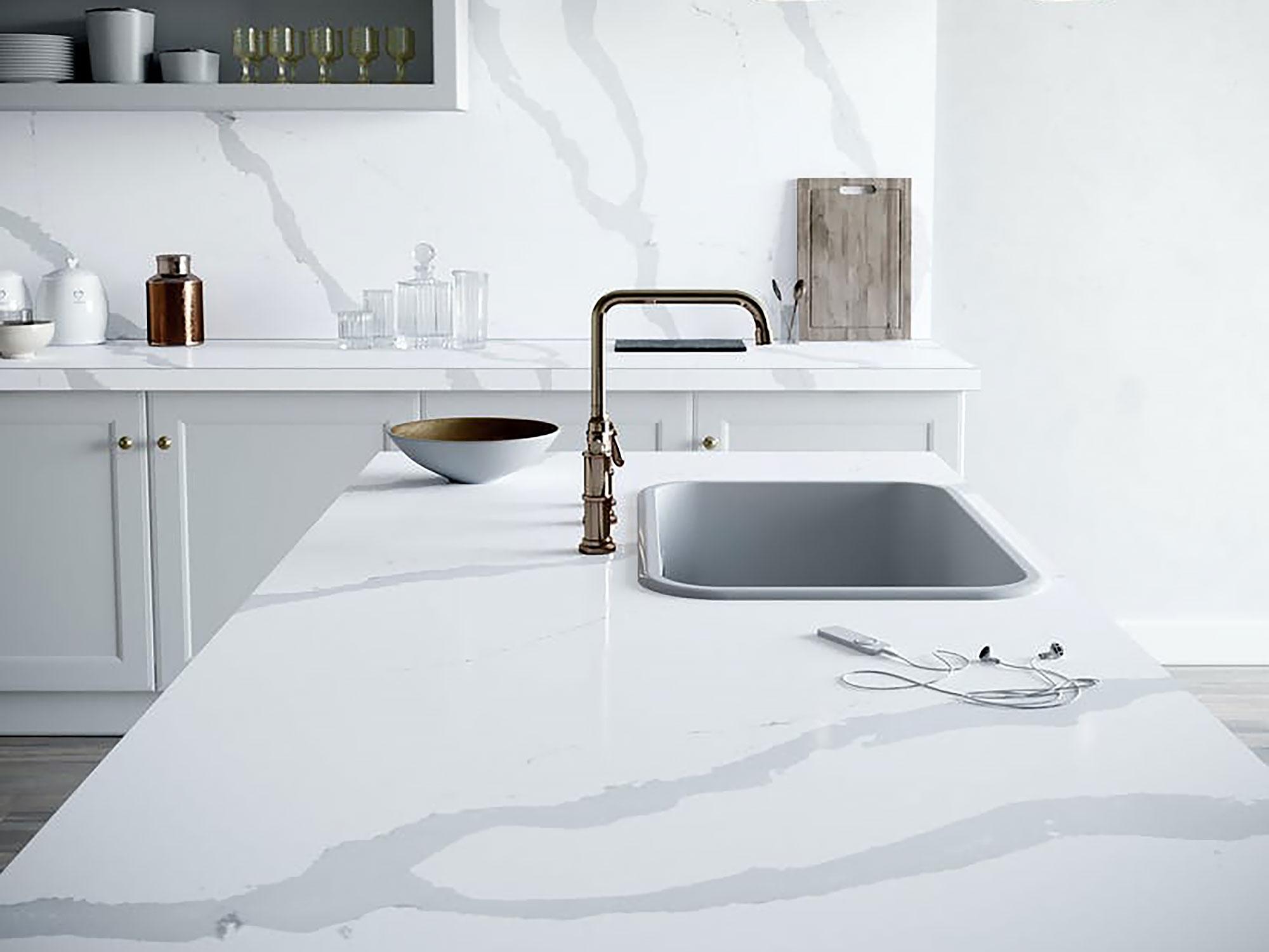 Silestone kitchen worktop bianco calacatta