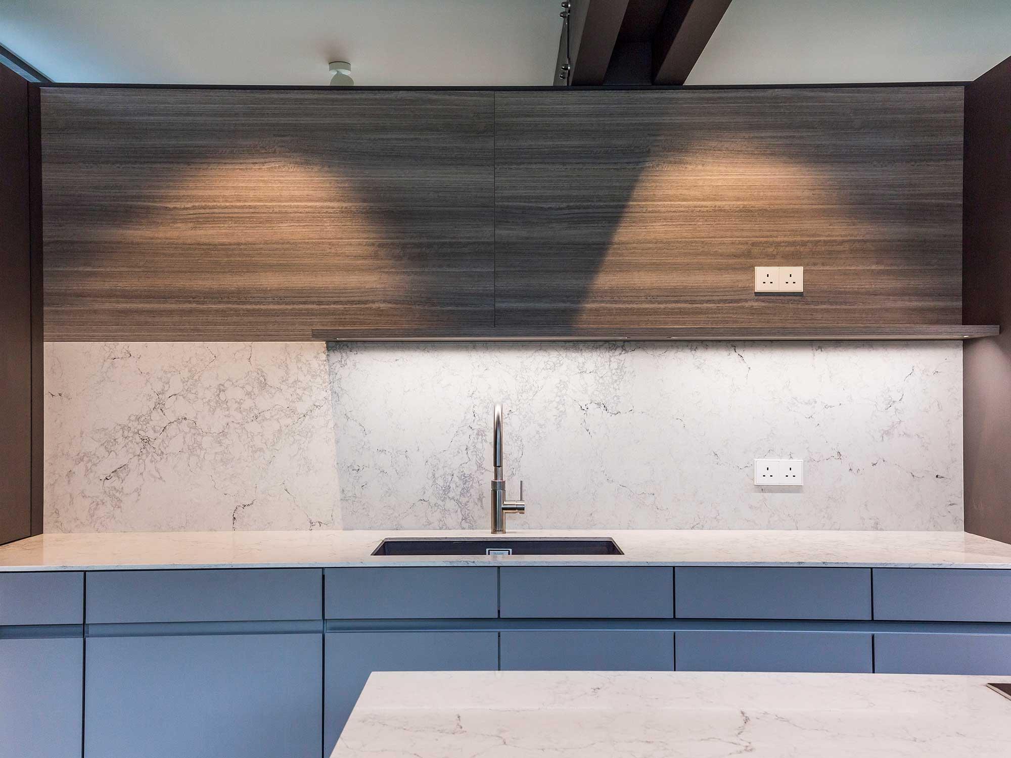 Kitchen worktop upstand in Guildford