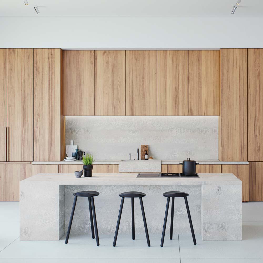 4043 Primordia Kitchen Render | Hubble Kitchens & Interiors