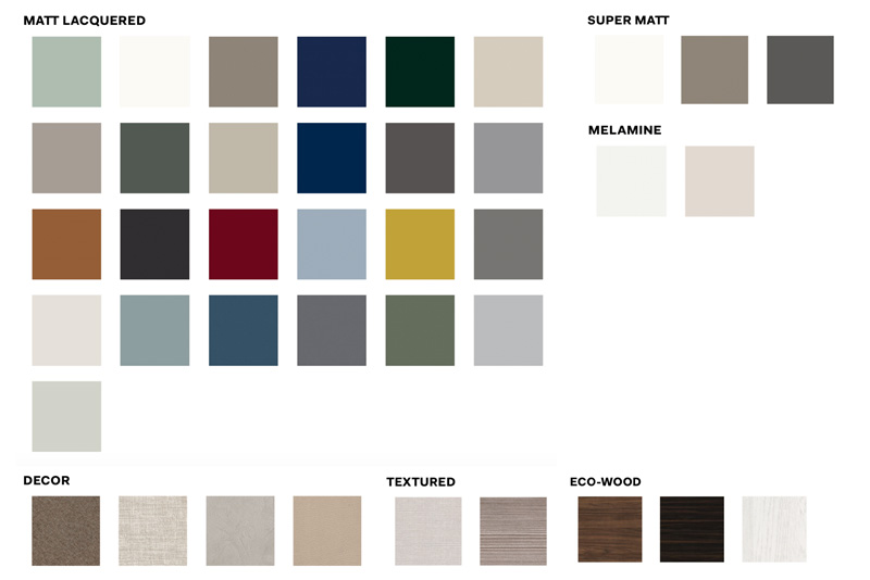 Novamobili Door Colours | Hubble Kitchens & Interiors