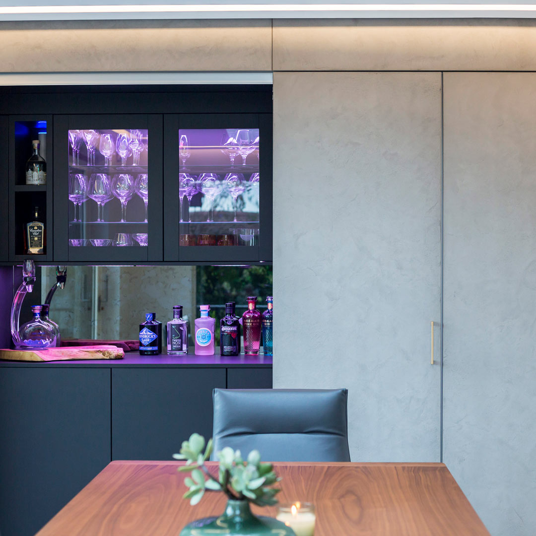 Drayton Lane Hidden Bar | Hubble Kitchen