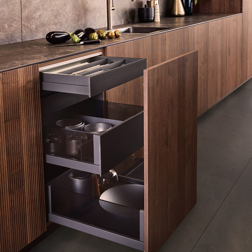 Touchless Technology Drawer Open | Hubble Kitchen