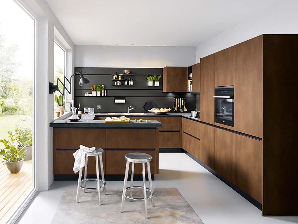 open kitchen for entertainment